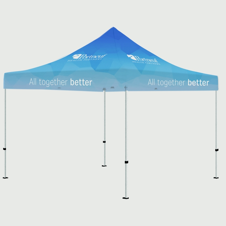 10\' Square Pop Up Tent Full-Color, Full Bleed Dye-Sublimation