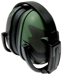 239 Green Camo Foldable Ear Muff with Adjustable Band