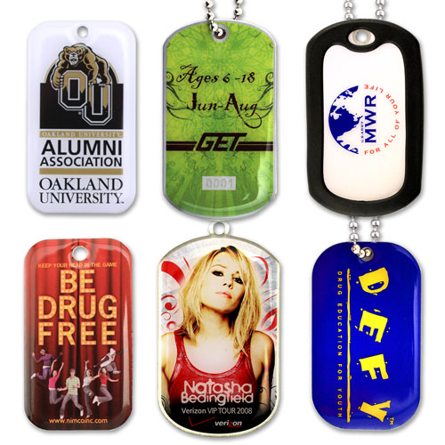 Full Color Dog Tags - Stainless Steel Base
