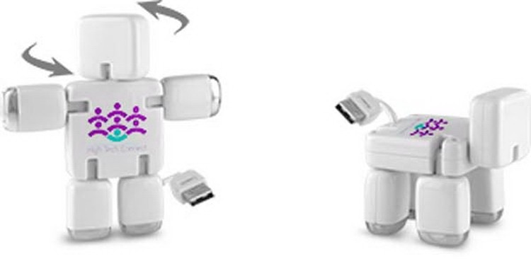 4 port USB Hub transformer Bot-Boy to Bot-dog