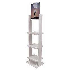 Floor 60h Wine Bottle Display - (3) shelves w/ Header