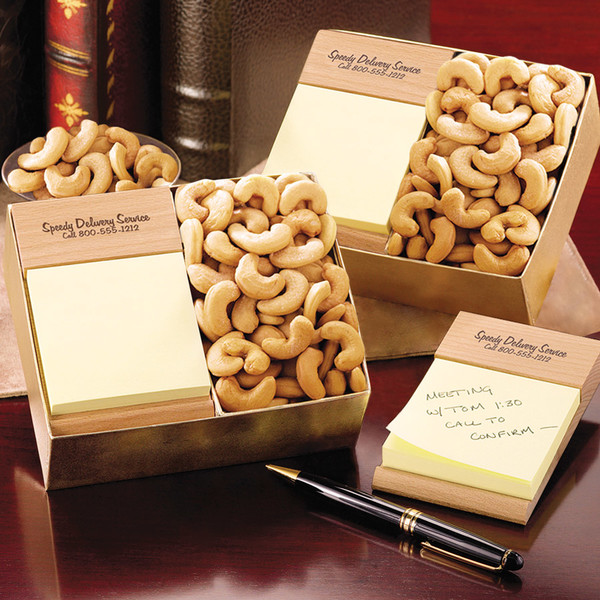 Post-itNote Holder with Extra Fancy Jumbo Cashews