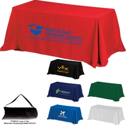 4-Sided Throw Style 6 ft Table Cloth & Covers (Spot Color Print)