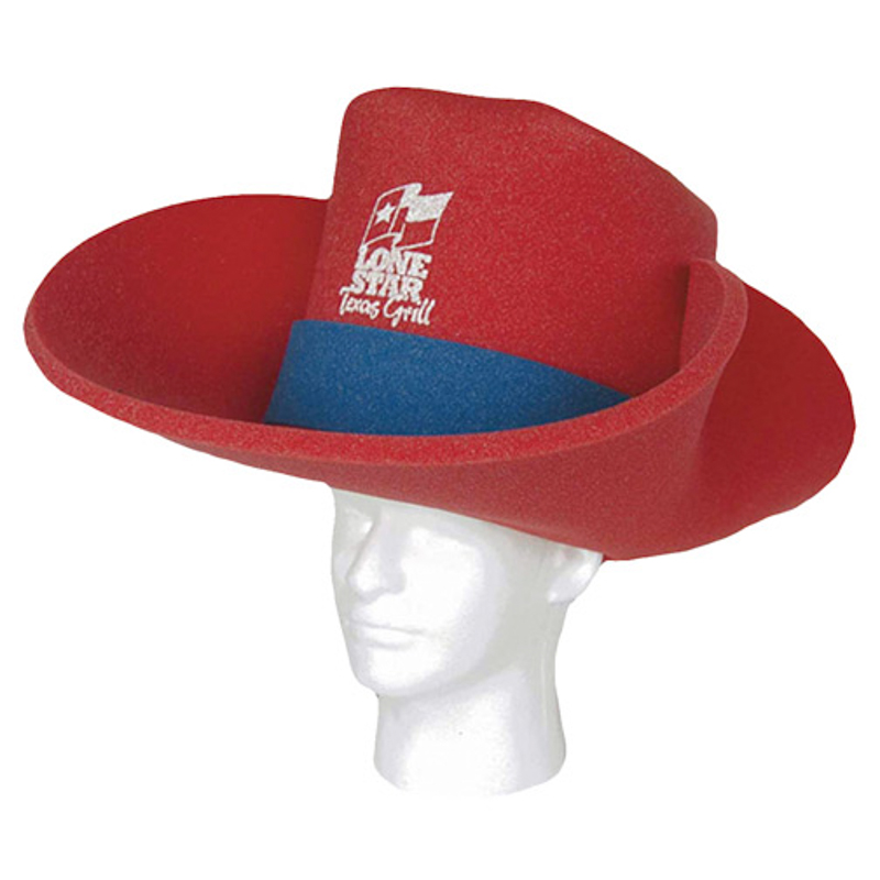 Cowboy Hat 30 Gallon - CBL202 | Foamworx US 10 Gallon Cowboy Hat Front