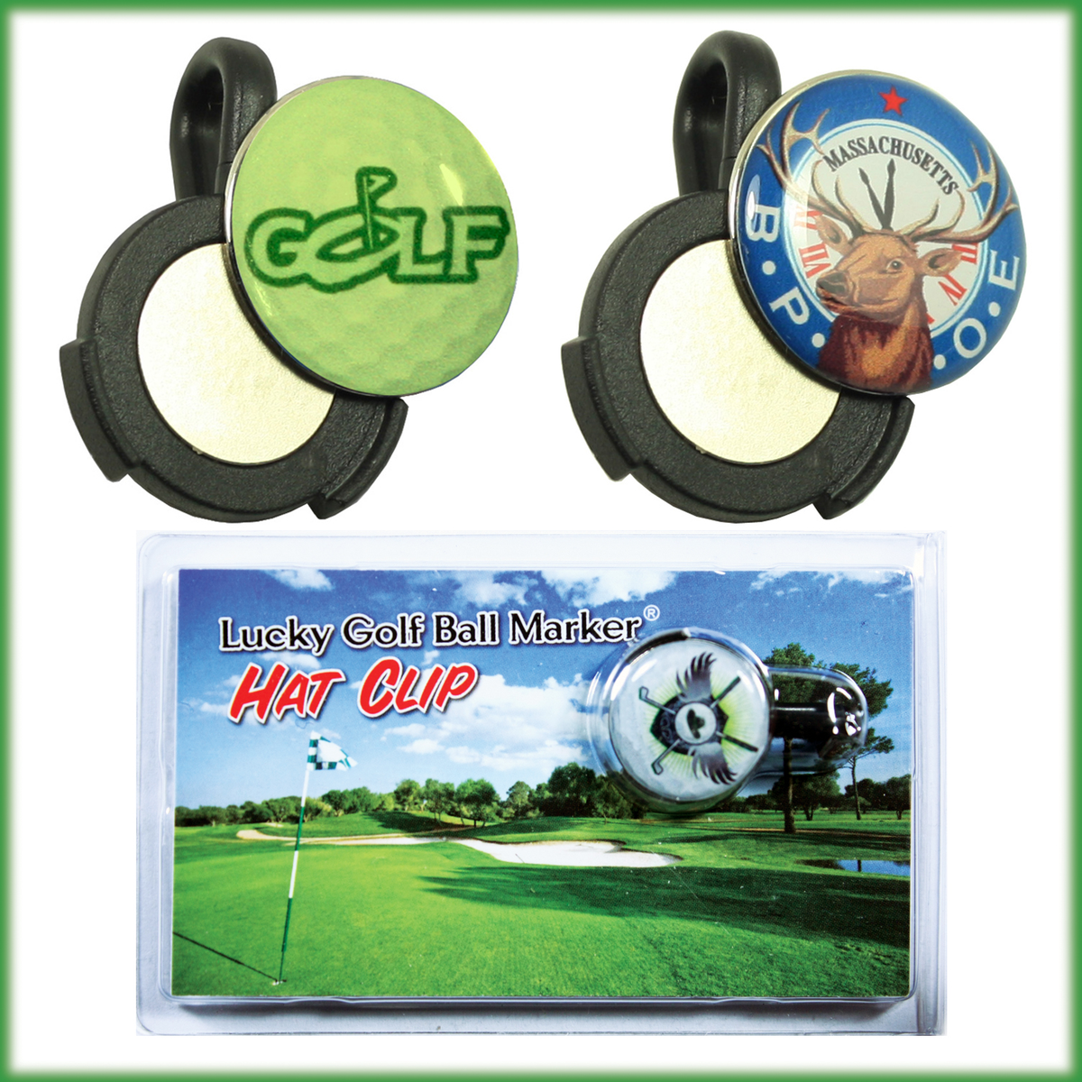 Custom Golf Ball Marker / Magnet Hat Clip