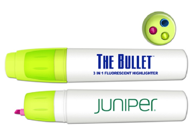 The Bullet Twist Action 3 Color Retractable Fluorescent Highlighter