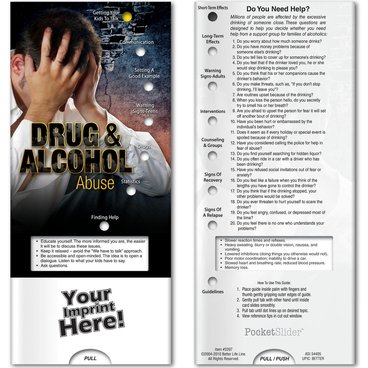 Pocket Slider - Drug and Alcohol Abuse