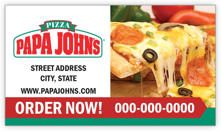 Papa John's Business Card Magnet