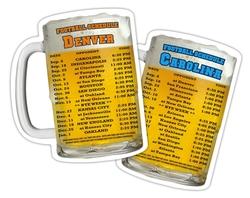 Drink Coaster - 3.75x4.375 Beer Mug Shape -18 pt. Paperboard