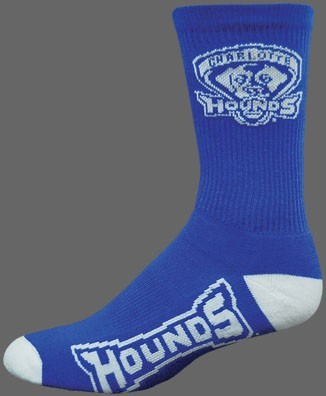 Deluxe CREW Basketball/Lacrosse Socks - School Colors-w MOISTURE WICKING-additional foot logo.