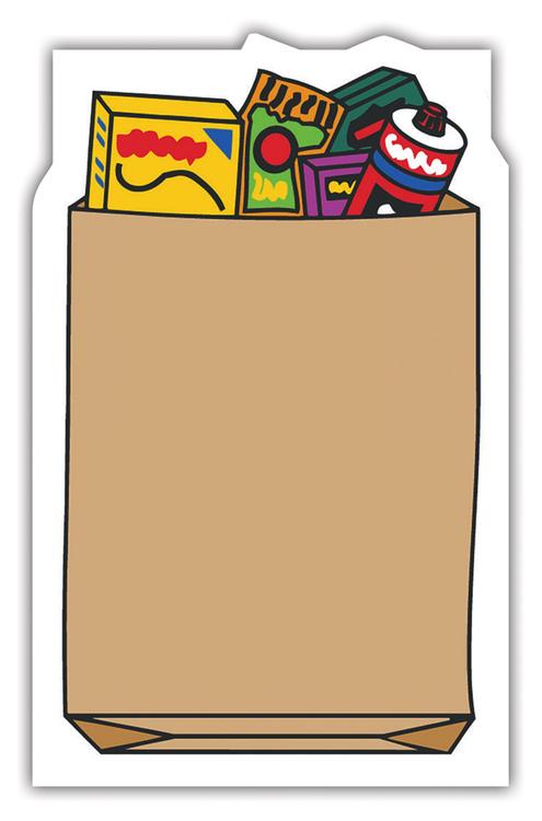 Magnet - Grocery Bag Shape (1.75x2.875) - 25 mil