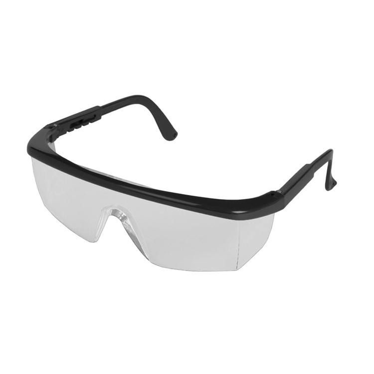 Sting-Rays Black Frame Safety Glasses (Clear Anti Fog)