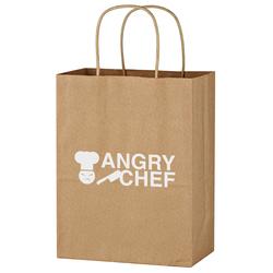 Kraft Paper Brown Shopping Bag - 8