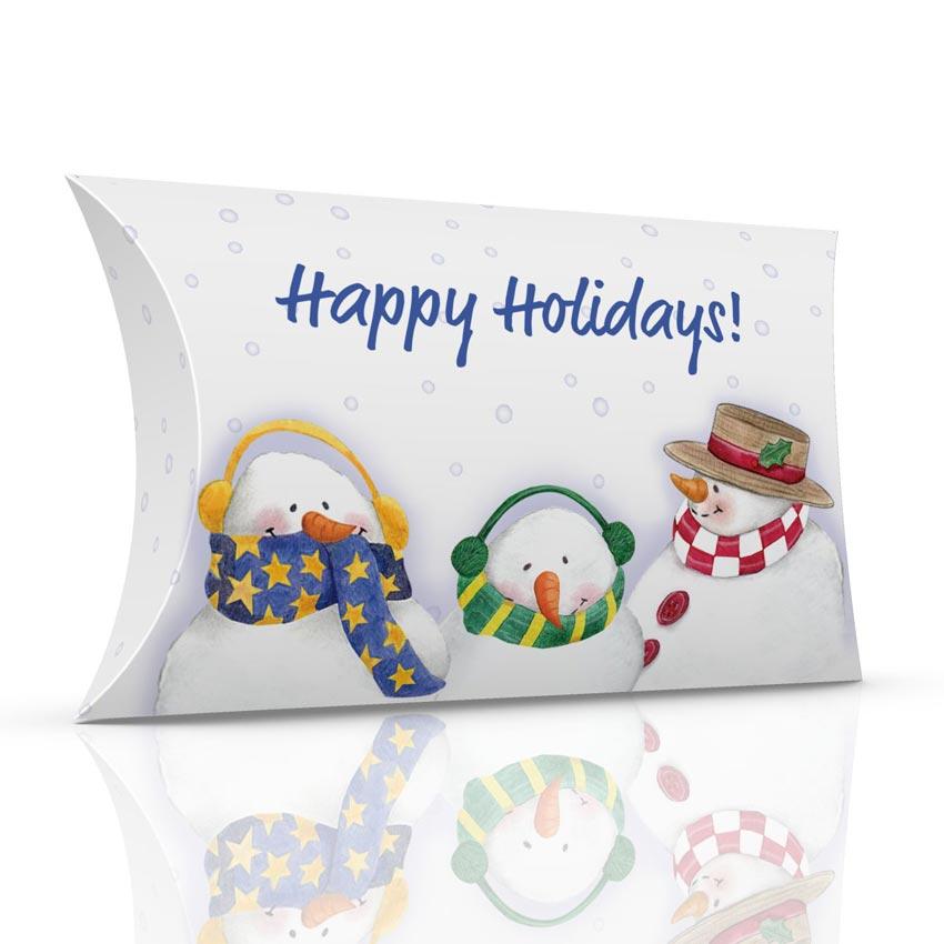 Holiday snowmen pillow box