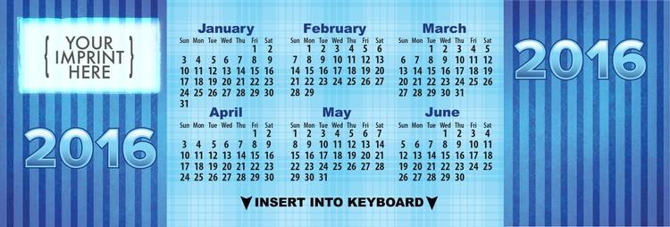 CALENDAR - Beautiful Blue Keyboard Calendar
