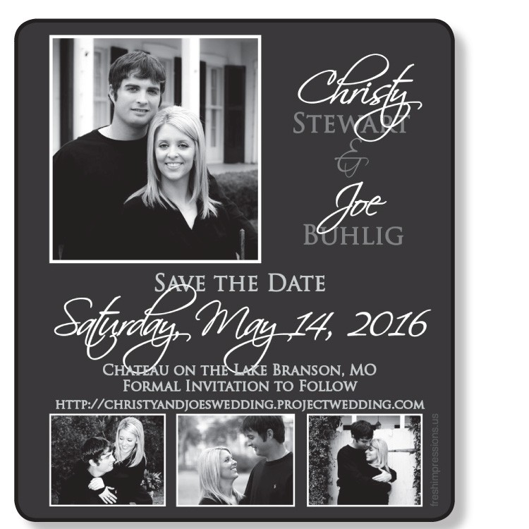 3.5x4 Wedding Magnet with FREE Printed Envelopes - formally FI-0140