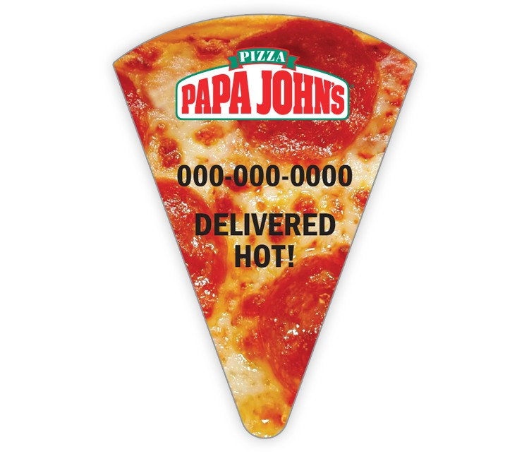 Papa John's Slice Magnet - Pepperoni