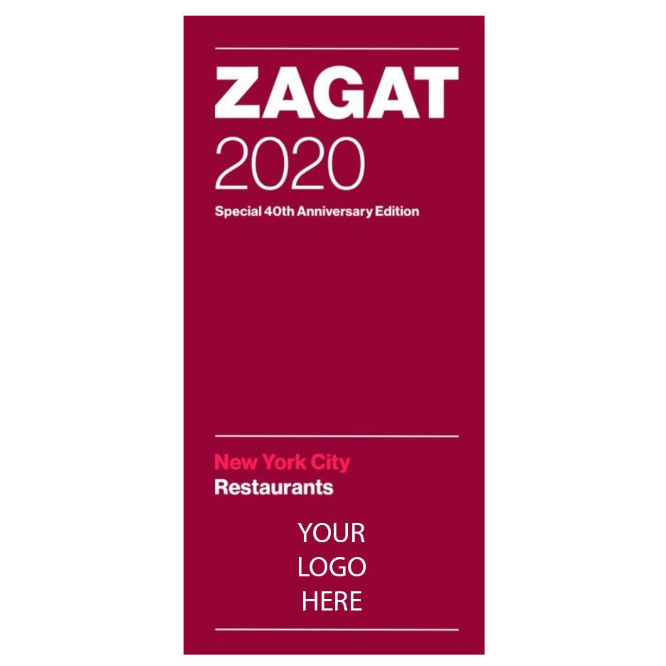 Zagat 2020 New York City Restaurants Special 40th Anniversary Edition With Custom Logo