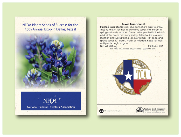 Texas Bluebonnet Seed Packet - Imprinted Seed Packet