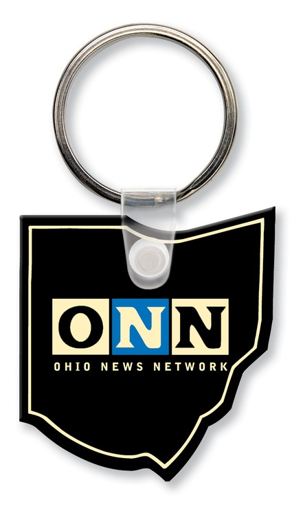 Key Tag - Ohio - Spot Color - Budget friendly key chain / ring / holder and key accessories for auto, car, house or automotive dea