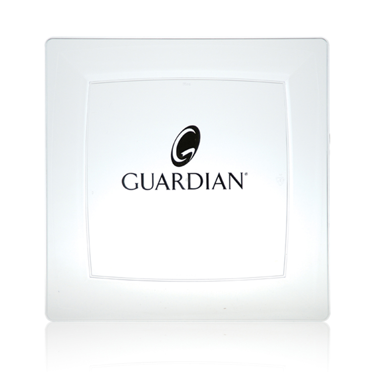 Large Milan™ Plastic Plate - Clear