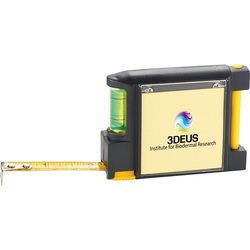 WorkMate 3-in-1 Tape Measure with Pad Pen and Level