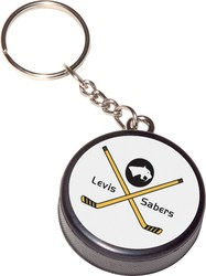 Mini Hockey Puck Key Chain