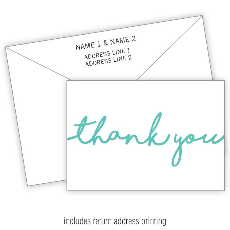 Card Flat With Printed Envelopes