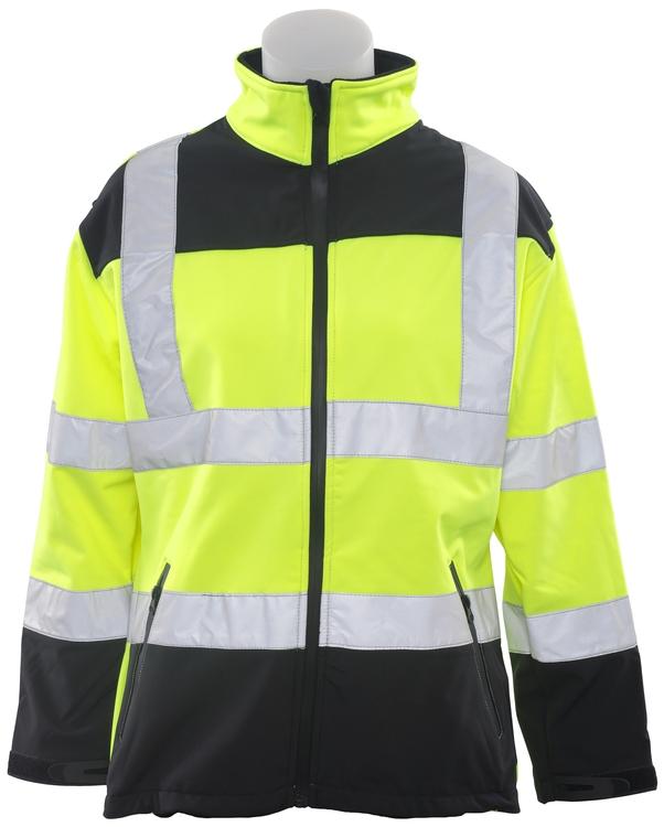 W651 Class 2 Soft Shell Jacket Women's Hi Viz Lime Medium
