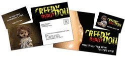 Laminated Postcard with Detachable Horizontal Business Card - 14 pt.