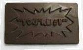 YOURE #1 CHOCOLATE BUSINESS CARD