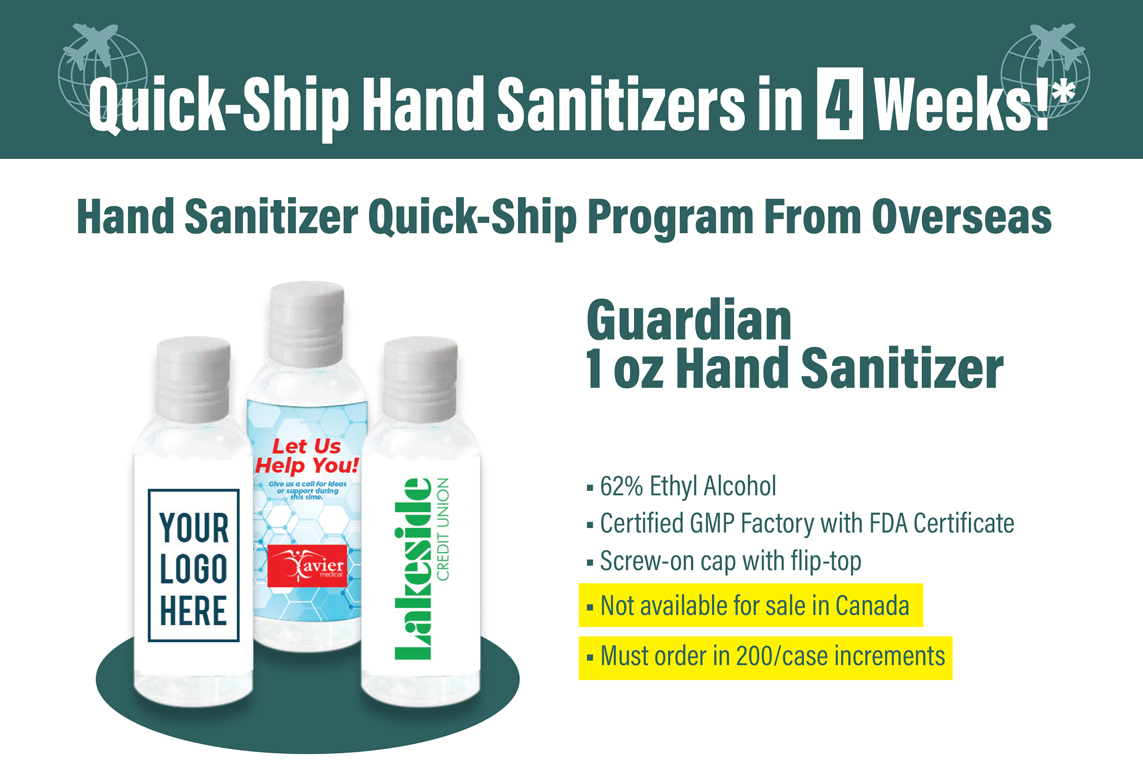 custom logo hand sanitzers fast