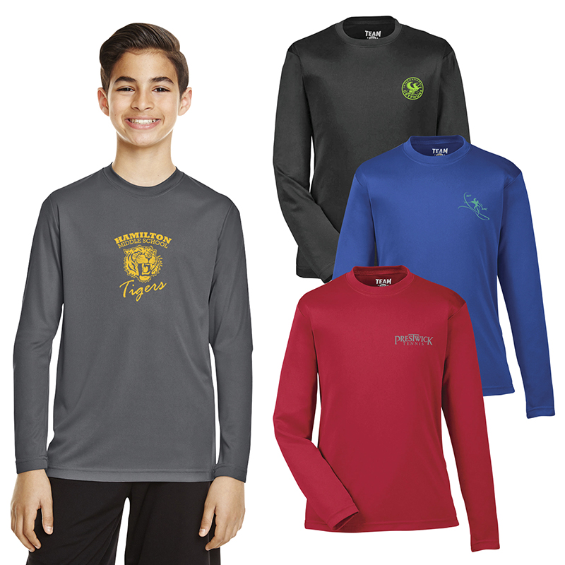 54d64d8e Team 365® Youth Zone Performance Long-Sleeve T-Shirt - TT11YL ...