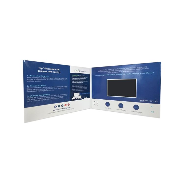 Custom 4.5 IPS Screen VIP Brochure/Video Mailer Card/Greeting Card/Gift Card