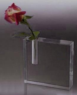Secretary Appreciation Bud Vase. Side Hole. Optic Crystal