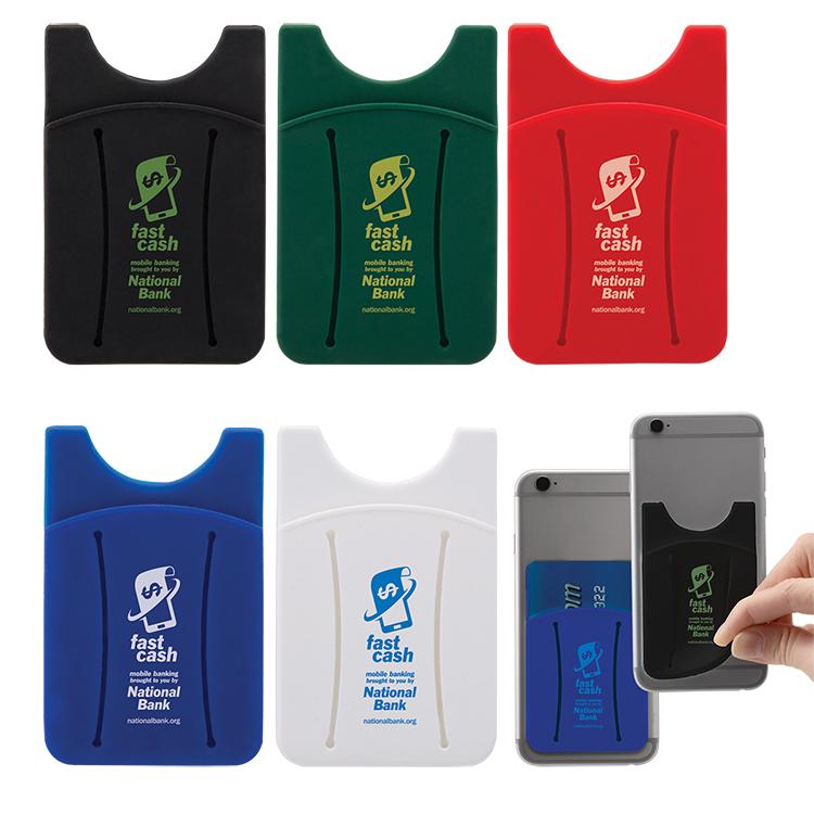 Cell Phone Card Holder >> Finger Grip Cell Phone Card Holder 6214 Bullseye Marketing 2019