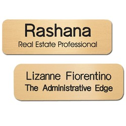 Los Angeles Standard Metal Name Badge (Standard Size 1 x 3) - Name Badges