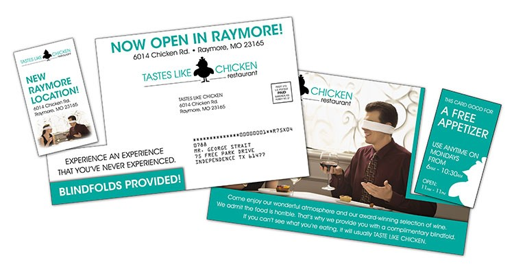 Laminated Postcard with Detachable Vertical Business Card - 14 pt.