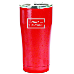 SIC 20 oz RED Stainless Steel Tumbler with Sliding Splashproof lid