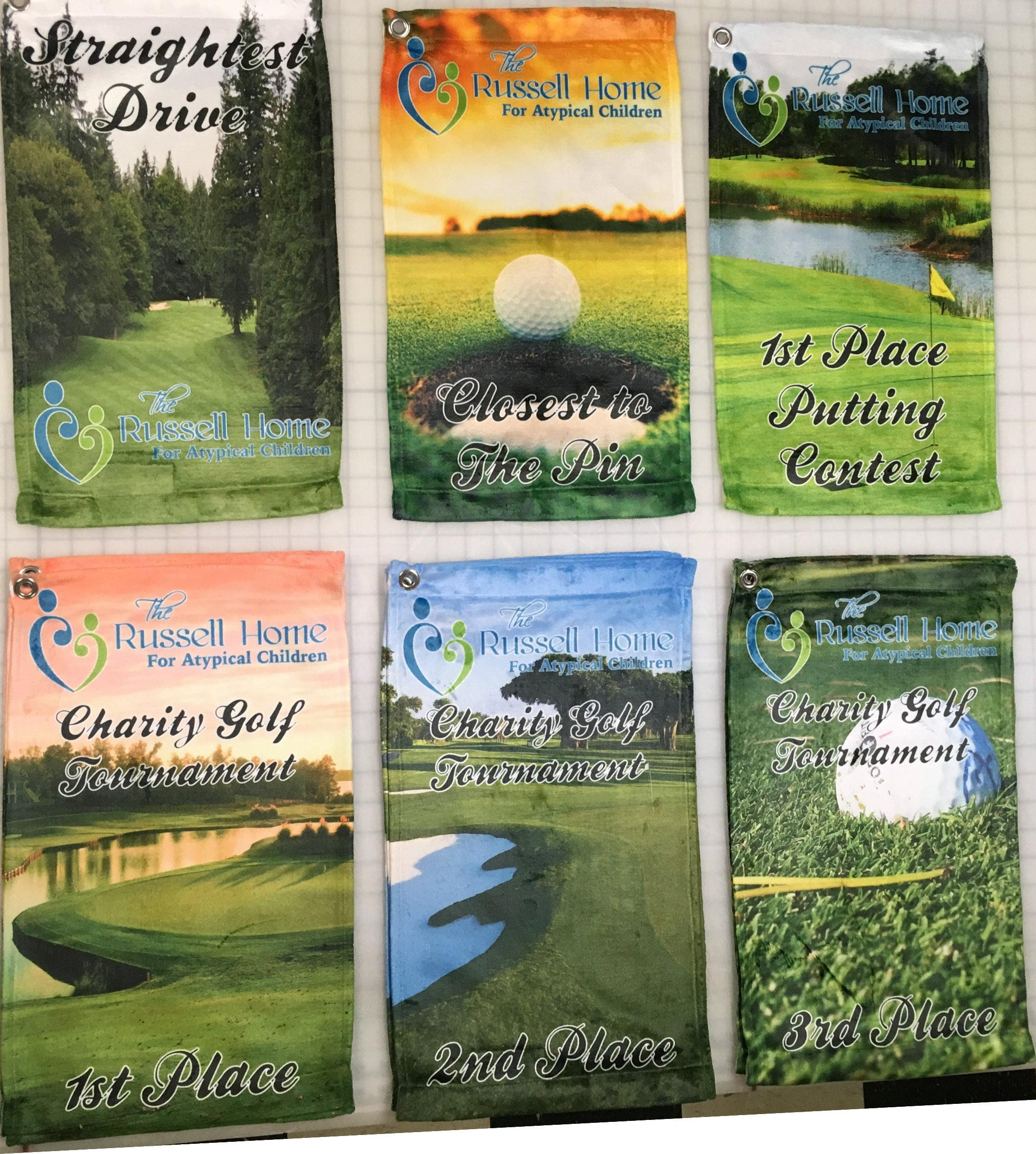 Custom Full Color Personalized Golf Towels for your Golf Tournament