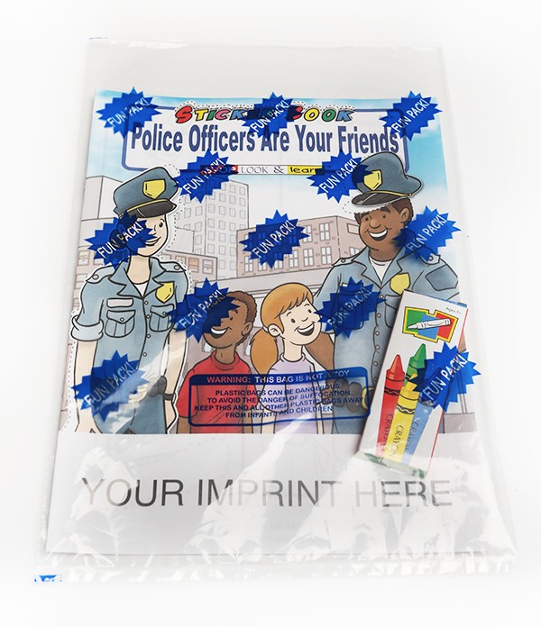STICKER BOOK SET - Police Officers Are Your Friends Sticker Book Fun Pack
