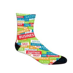 Dress Sock- Ankle High- Full Color Exterior Limited Time