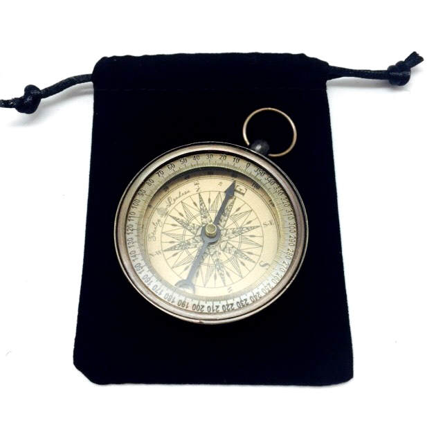 Antique Style and Antique Finished Brass Compass