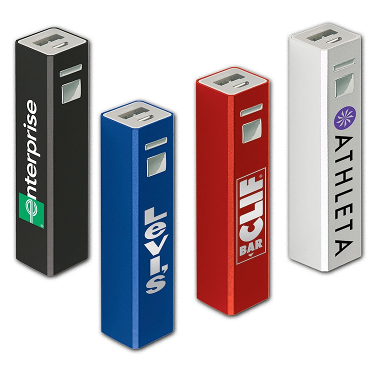 Tower of Power™ Aluminum Rechargeable Power Bank 2200 mAh