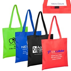 15W x 16H - 80GSM Non-Woven Catalina Day Tote and Shopping Bag with Velcro Closure