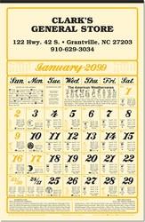 Almanac Calendar (11 x 17)