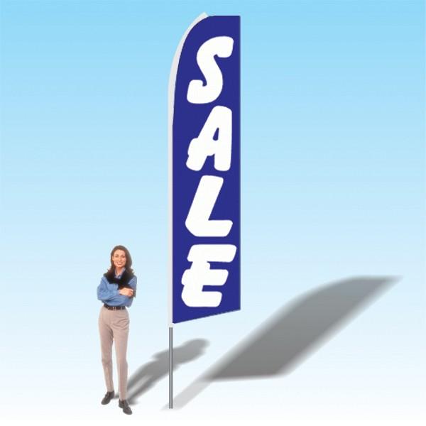 15FT Sale Blue Advertising Banner Flag