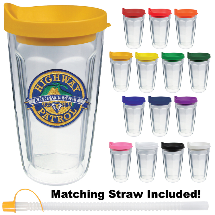 16oz Thermal Travel Tumbler w/Embroidered Emblem