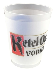 16 oz. Plastic Frost Flex Stadium Cup - 1-4 color OFFSET Imprint