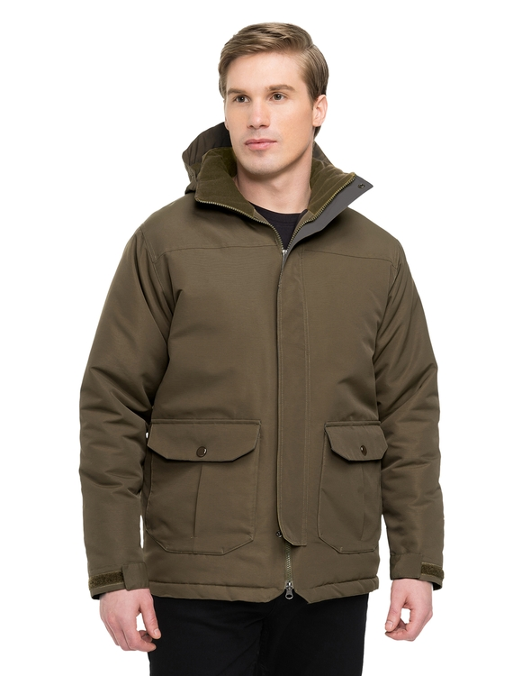 Heavyweight jacket, windproof/water-resistant, lined with a 15 oz. anti-pilling panda fleece.